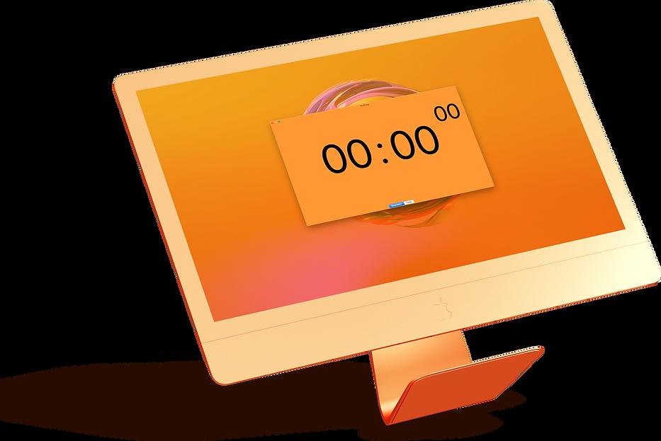TeraTime on floating orange iMac.png