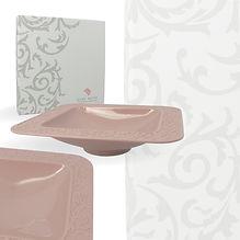 Vassoio quadrato Rosa con box