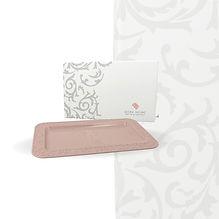Vassoio rettangolare Rosa con box