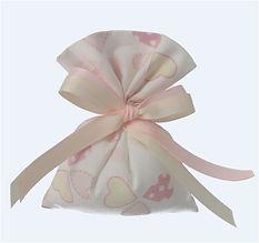 Saccotto Rosa Porta Confetti | Piccolo