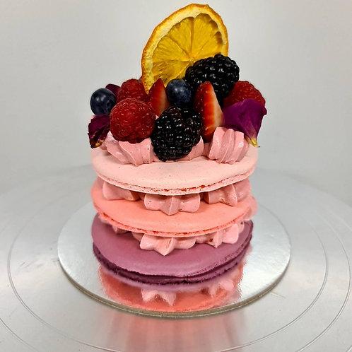 10cm Simple Macaron Cake