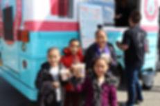 kids drinking protein shakes