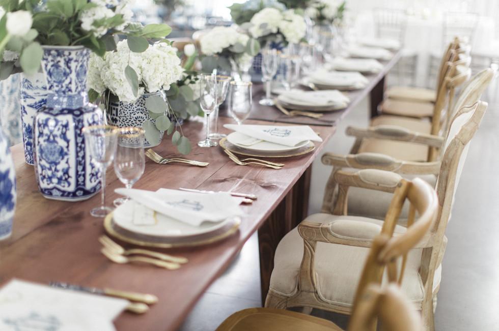Beautiful custom modern wedding reception