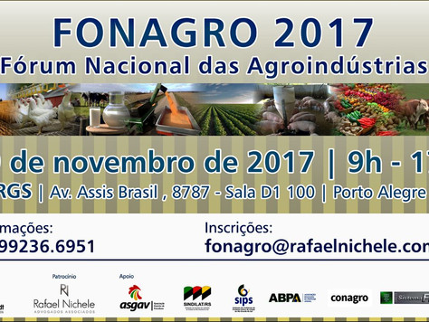 FONAGRO 2017- Fórum Nacional Das Agroindústrias