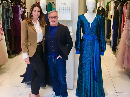 Jacques Azagury - the Designer who brings glamour, style and elegance to his creations, and of cours