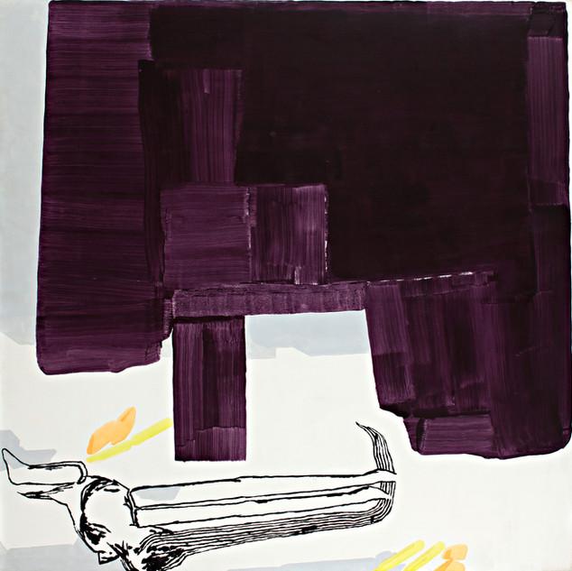 Object Paintings-Table, acrylic on canvas, 145x145 cm, 2006