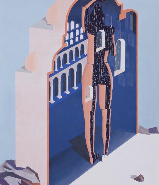 Purining, acrylic on canvas, 200x160 cm