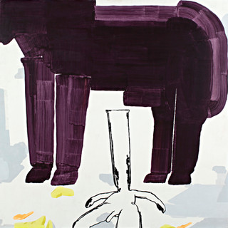 Object Paintings-Horse, acrylic on canvas, 145x145 cm, 2006
