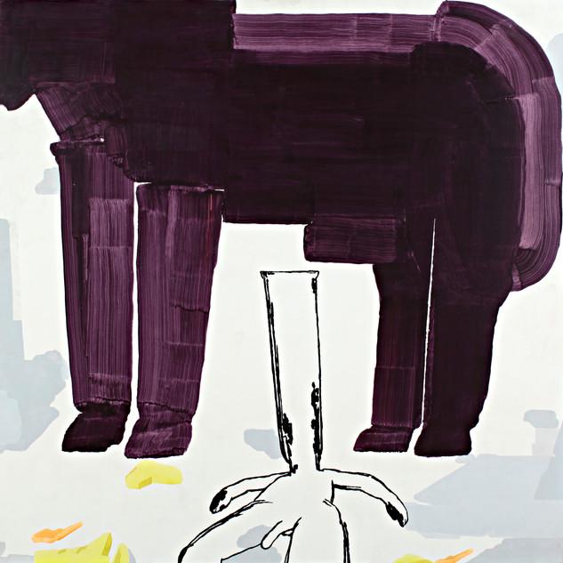 Object Paintings-Horse, acrylic on canvas, 145x145 cm, 2006