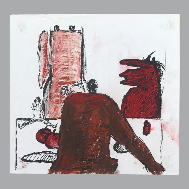 TuranAksoy_desktop painting_mix media on