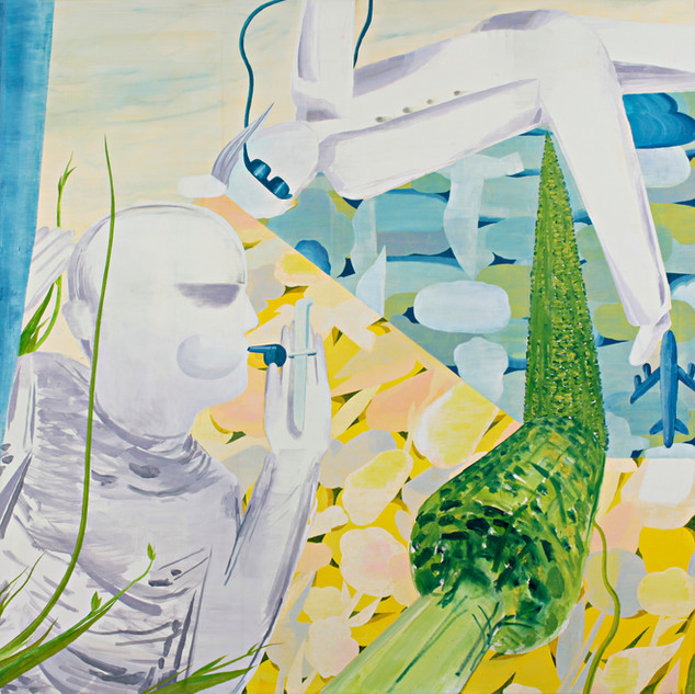 Paintings of Happines, acrylic on canvas, 160x160cm, 2008
