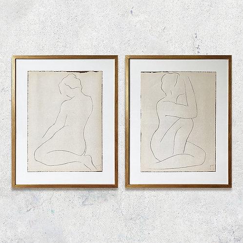 Serie bosquejos lineales