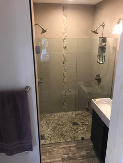 Curbless Pebble Shower