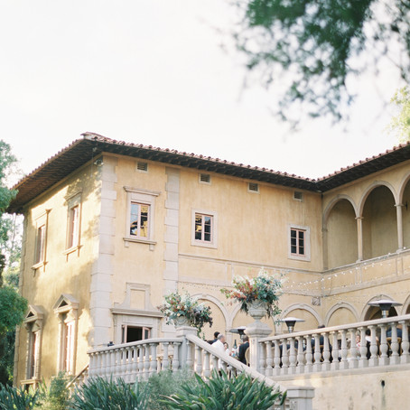 Wedding in an Italian style villa in California