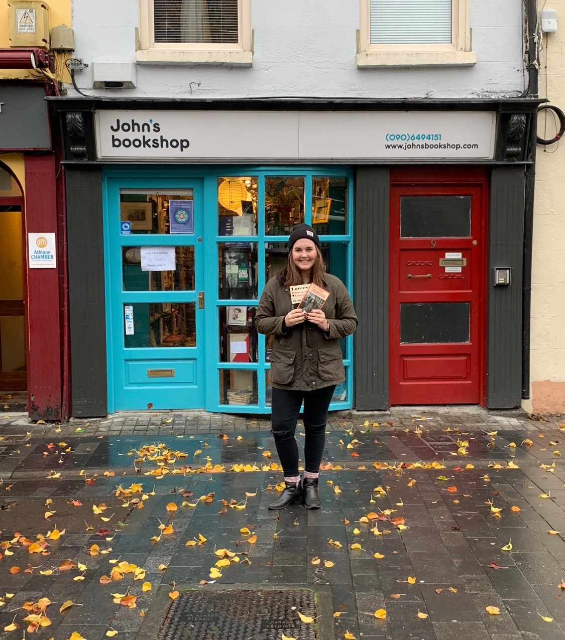 Christine loves plays and bought oneofOscar Wilde's atJohn's Bookshop