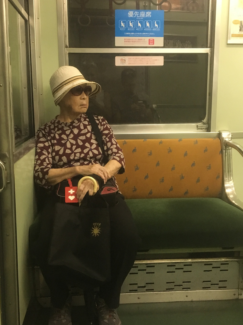 Riding the train in Japan