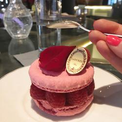 Rose and raspberry macaron