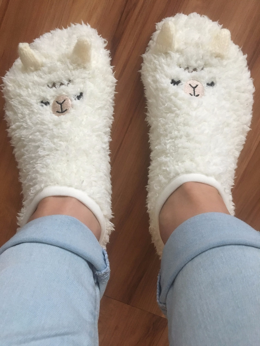 These fuzzy llama socks came from the Shibuya Station in Tokyo, Japan