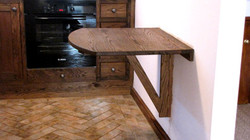Cafe kitchen table
