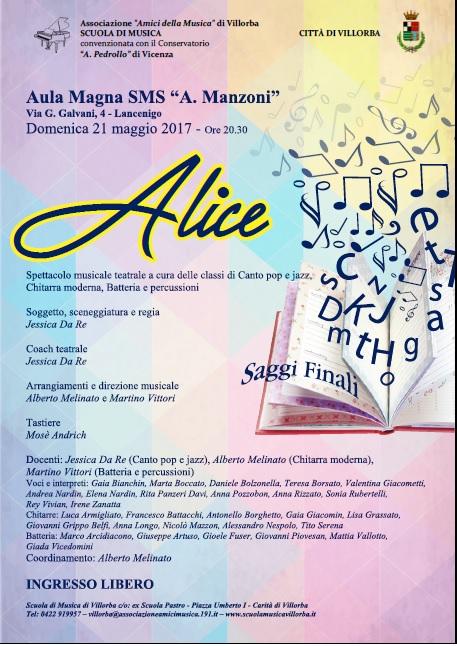Spettacolo Alice 2017