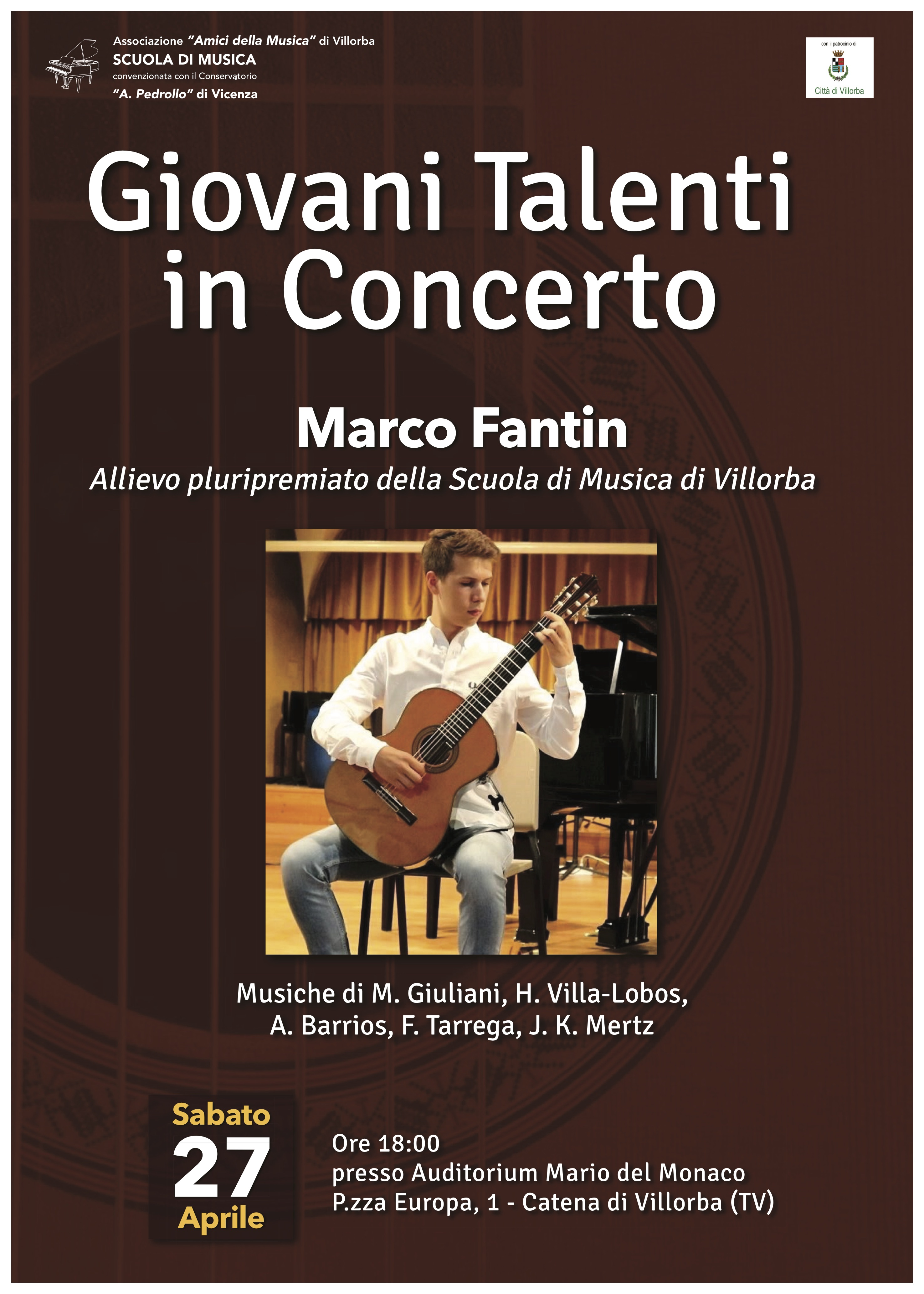 locandina concerto fantin 27 aprile