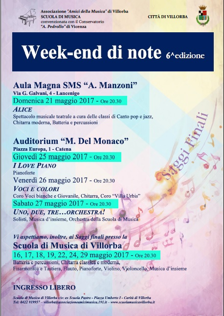 week end di note 2017
