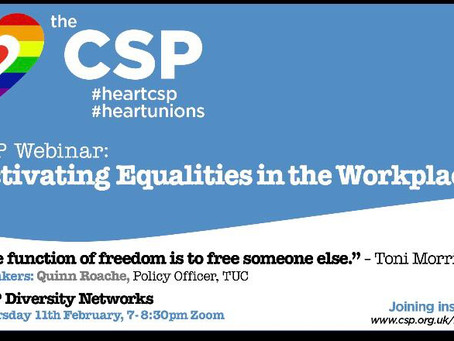 CSP webinar - Activating Equalities in the Workplace