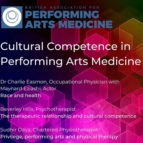 Performing Arts, Physical Therapy and Privilege - webinar slides 27.01.21