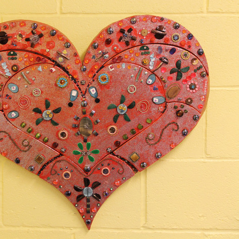 'Pieces of our Heart' an artwork by the Welcome Project