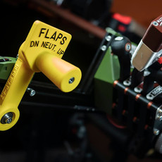 US style flaps lever