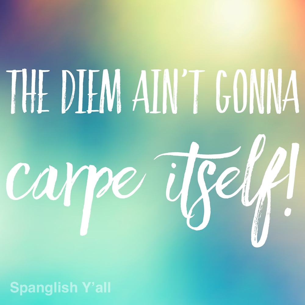 the diem ain't gonna carpe itself! quote