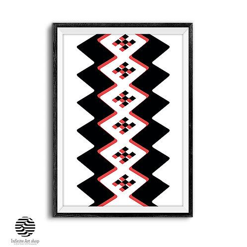 Geometric Shapes Art Print,Geometric Wall Art,Modern Minimalist Art,Simple Art Print,Pattern,Digital Download,Trendy wall Art