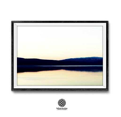 Ohrid Lake Sunset Wall Art,Sunset Printable Photography,Minimalist Sunset Print. Horizontal Landscape Print,Digital Download,