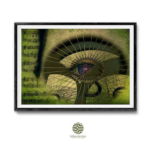 Surreal Art print,Digital Art Artwork,Fantasy Artwork,Futuristic Art,Retro Art Poster,Digital Download,