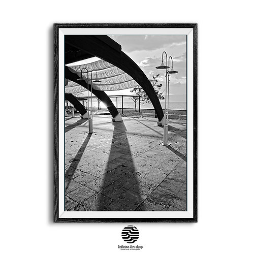 Black and White Architecture Print,Fine Art Photography,Light and Shadows Photography,Minimalist,Digital Download,Trendy