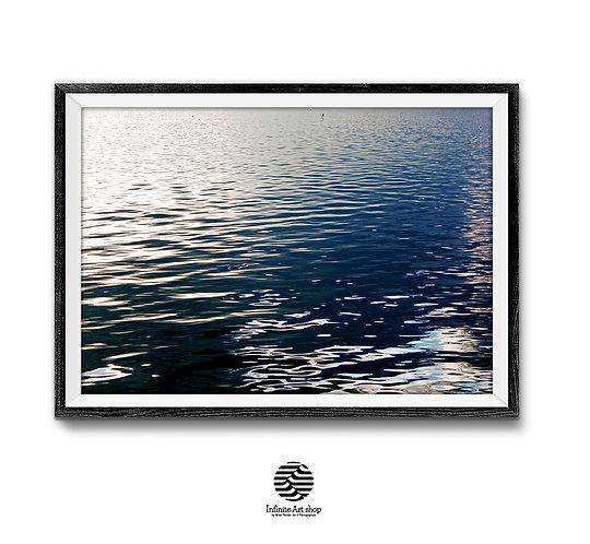 Water Reflections Photography,Coastal Wall Art,Beach Wall Art,Lake Wave Print,Fine Art Photography,Digital Download,Trendy