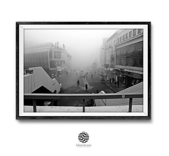 Foggy Street Print Digital Download