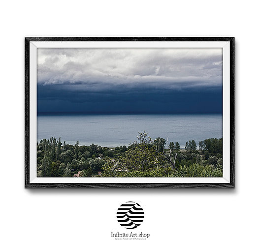 Moody Nature Landscape Photography,Clouds Wall Art,Dramatic Stormy Clouds Picture,Digital Download,