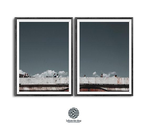 Street Photography Color,Digital Download,Sky print,Minimalist,