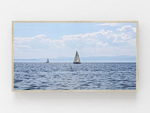 Samsung Frame Tv Art,Sailboat,Lake Tv Art,Digital Art For Tv,Coastal Tv Art.
