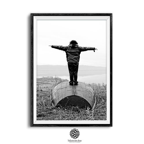 Learning to fly ,Digital Download,Black and white,fine art photography,minimalist,last minute gift ideas