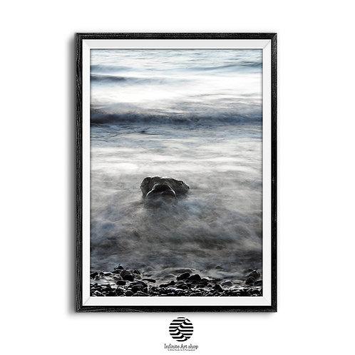 Beach Wall Art,Wave Print,Coastal Photography,Lake Print,Minimalist Beach Print,Digital Download,Trendy wall art,
