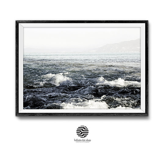 Lake Waves Photography,Minimalist Nature Print,Large Printable Beach Decor,Coastal Print,Digital download,Minimalist Print.
