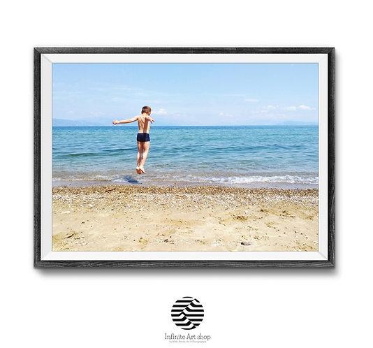 Summer Kids Fun,Digital Download,Beach wall art,