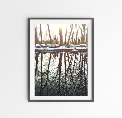 Sunny Winter Day,Digital download,printable wall decor.