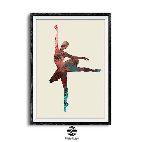 Ballerina Wall Art Print Digital Download,Trendy Art Print,