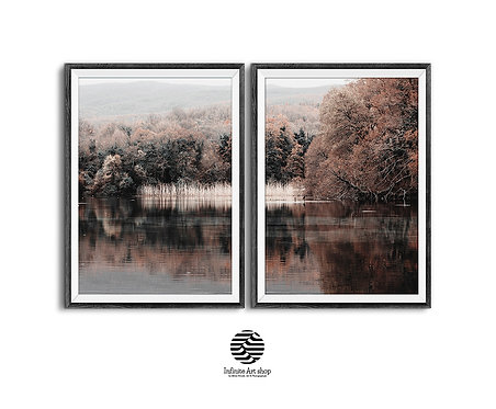 Autumn Landscape Print, Digital Download,Fall wall art,nature landscape Photography,Tree branches print
