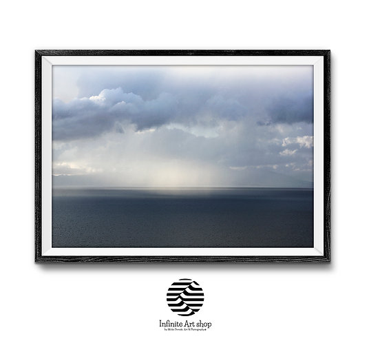 Dramatic Cloudy Sky Over Ohrid Lake,Stormy Landscape Photography,Clouds Wall Art,Digital Download,Trendy Wall Decor Ideas.