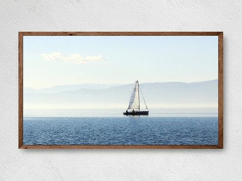 Samsung Frame Tv Art,Lake TV Art,Sailboat,Digital Art For Tv,Coastal Tv Art