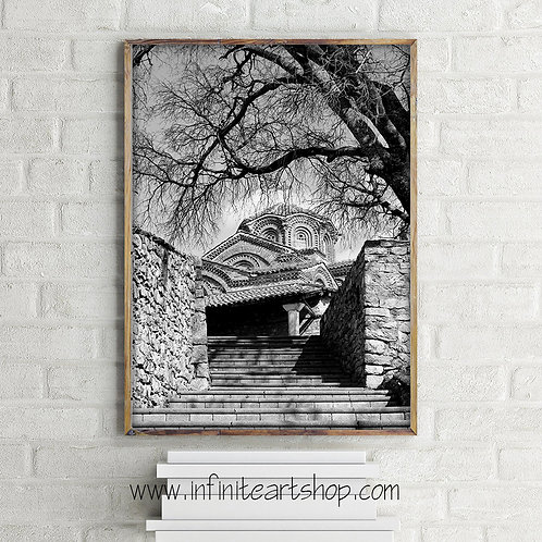 Holy Mary Perybleptos,Black and White Photography,Church Photography,